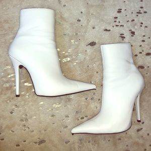 Jeffrey Campbell White Point Toe Booties